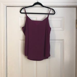 Worthington plum tank top in a size large.